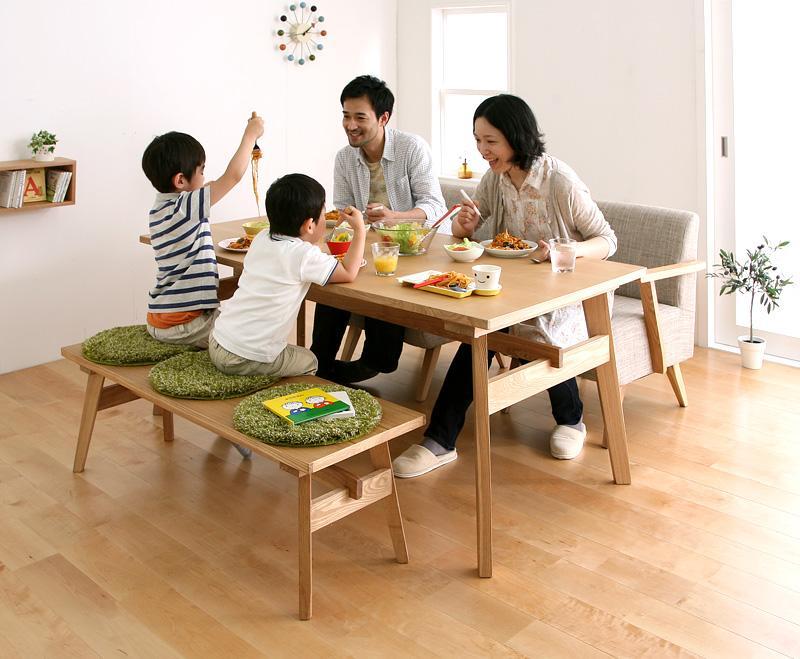リビングのようにダイニングでくつろげる ダイニング3点セット(テーブル+ソファ+ベンチ)