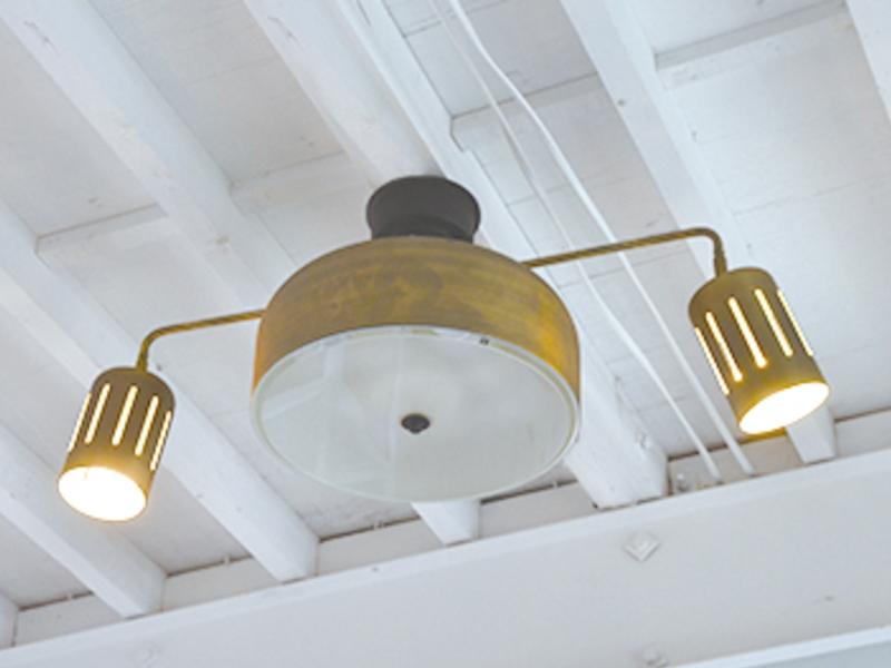 電気付けた状態 2灯