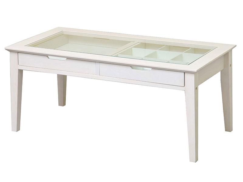 ホワイトカラーのリビングテーブル