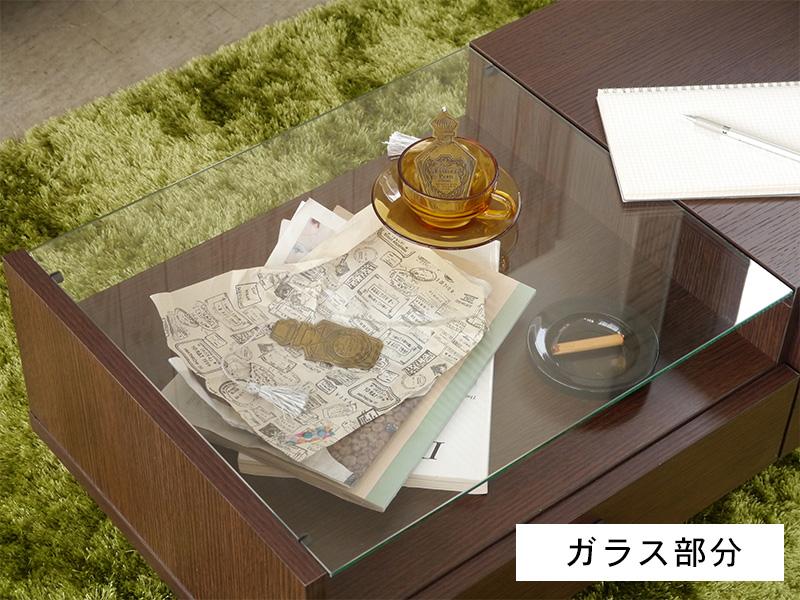 リビングテーブル120 ガラス部分