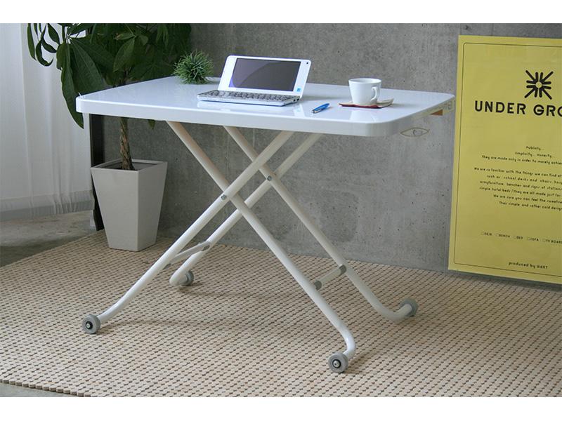 昇降式テーブルホワイトメイン画像