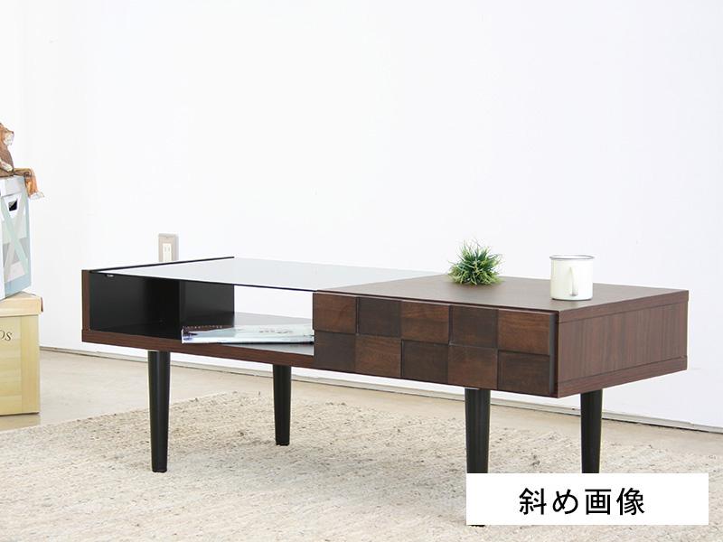 リビングテーブル 斜め画像
