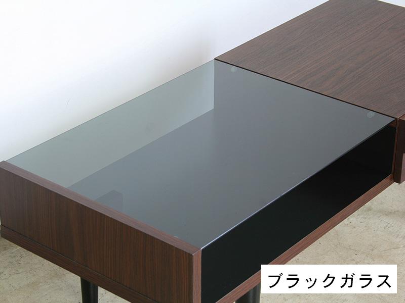 リビングテーブル ブラックガラス
