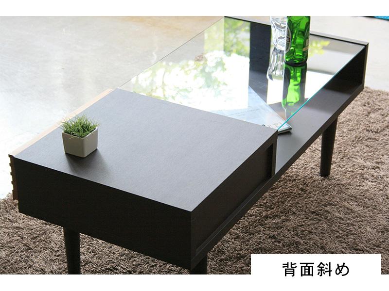 センターテーブル背面斜め