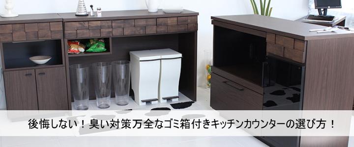 ゴミ箱付きキッチンカウンター