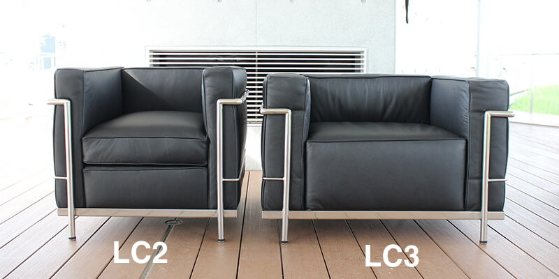 コルビジェLC2ソファとLC3ソファの違い