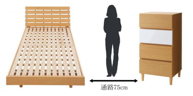 ベッドのスペース