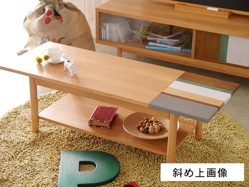 リビングテーブル斜め上画像