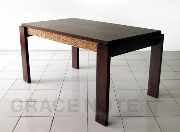 アジアン家具 ダイニングテーブル 全体画像
